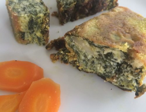 Flan di spinaci e formaggio di monte