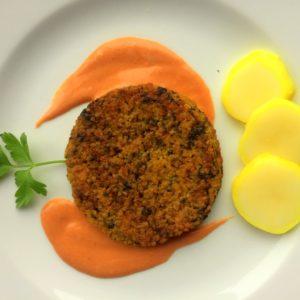 Burger di miglio con maionese vegana